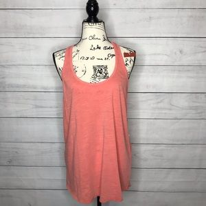 3/$15 NWT Mossimo coral pink racerback tank top L